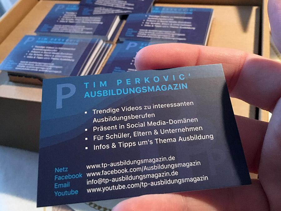 Moderne Visitenkarten für Selbstständige (Beispielumsetzung Belter-Media.Net)