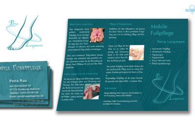 Chices Logo, Visitenkarten, Flyer für mobile Fußpflege in Duisburg-Walsum