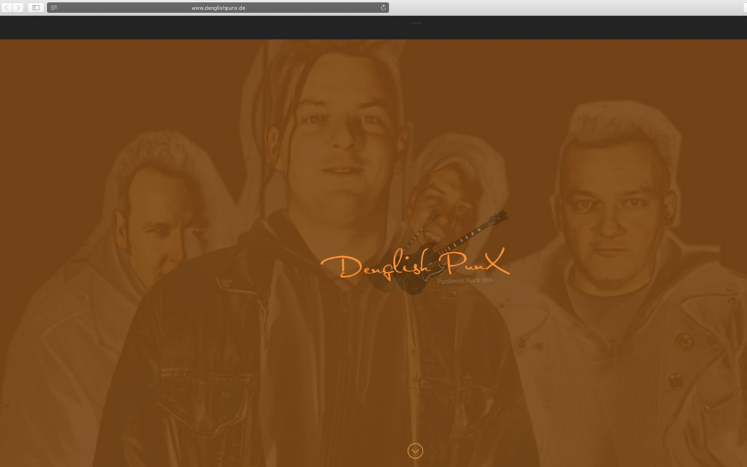 Website Relaunch einer Band-Homepage