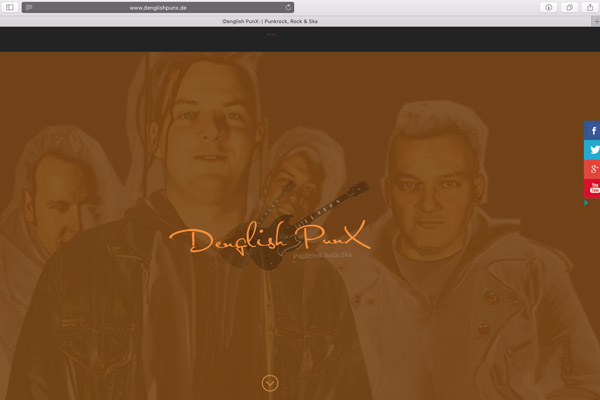 Denglish PunX Dinslaken mit neuer Homepage in Responsive Layout - supported by Belter-Media.Net