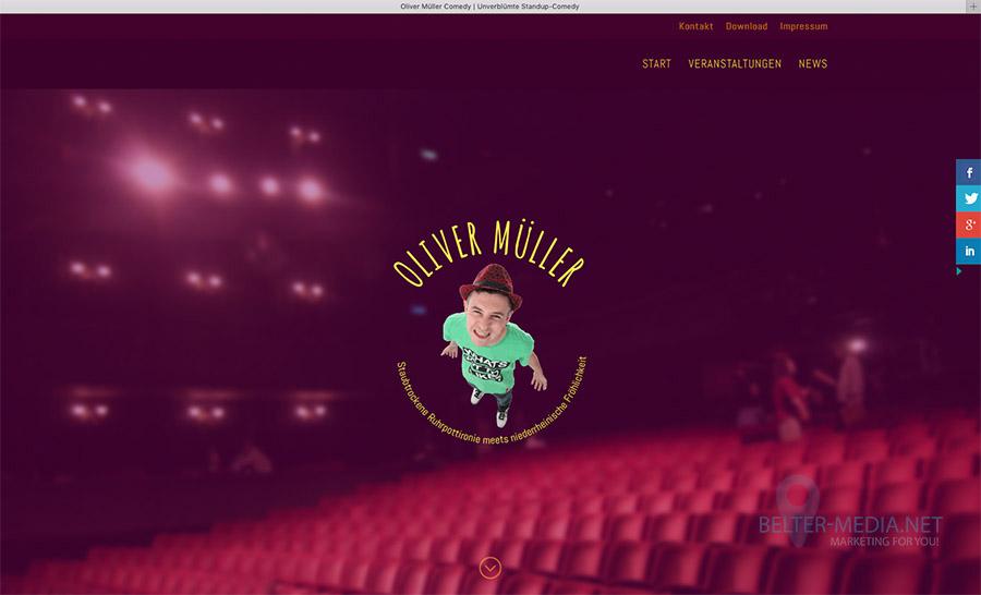 Oliver Müller Comedy mit neuer Homepage