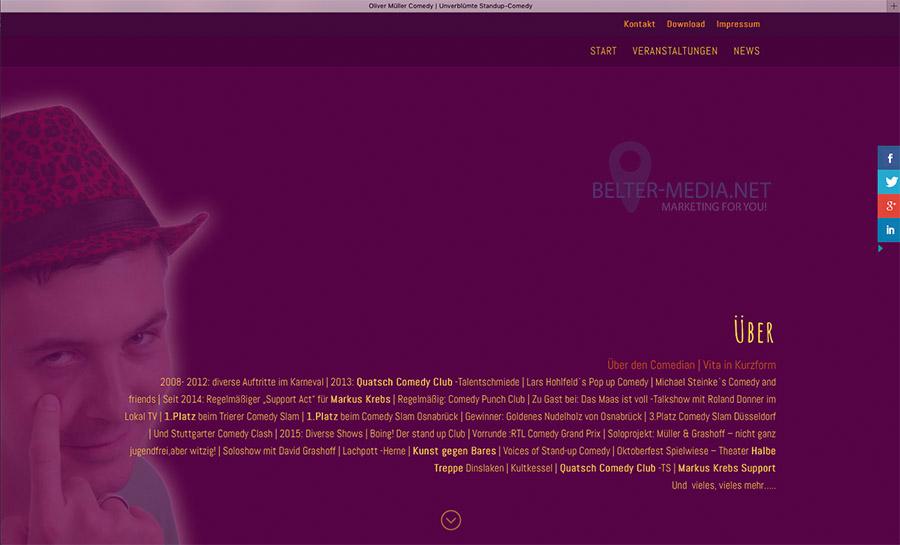 Oliver Müller Homepage 02