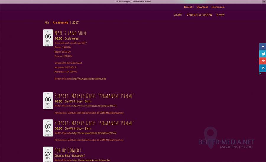 Oliver Müller Homepage 03 Veranstaltungen
