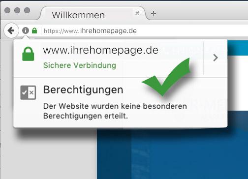 SSL-Verschlüsselung und sicheres Hosting für ihre Homepage