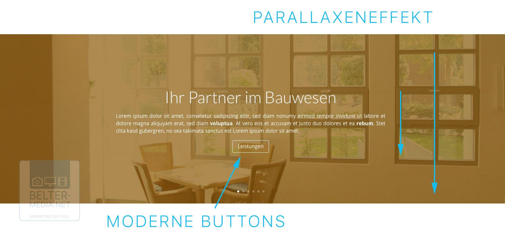 Moderne Effekte und Parallaxeneffekt (Belter-Media.Net)