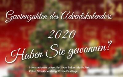 Gewinnzahlen des Adventskalenders 2020 des Lions Club Wesel